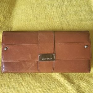Vintage Leather Jimmy Choo Clutch or Large Wallet